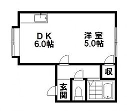 サニーマンション[12号室]の間取り
