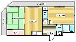 メゾンドール高田[703号室]の間取り