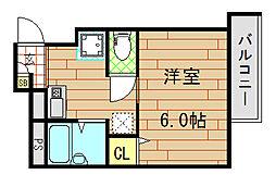 ガリューコート菱屋西[102号室]の間取り