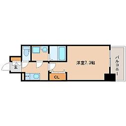 阪神本線 尼崎駅 徒歩6分の賃貸マンション 7階1Kの間取り