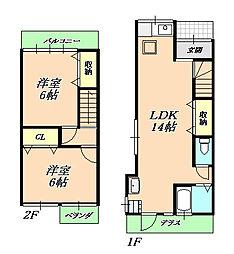 [一戸建] 兵庫県神戸市垂水区高丸7丁目 の賃貸【/】の間取り