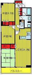 JR山手線 駒込駅 徒歩9分の賃貸マンション 4階3LDKの間取り