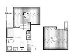 ホワイトベース[1階]の間取り
