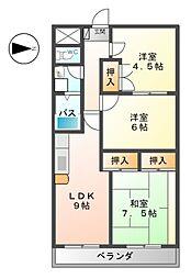 神科グランドマンション[2階]の間取り