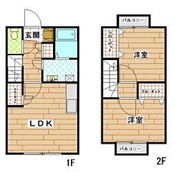 フォーサイト筑紫野Duplex[1階]の間取り