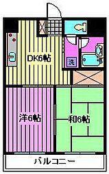 モンシェール寿能[2階]の間取り