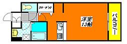 ベローナ 402号室[4階]の間取り