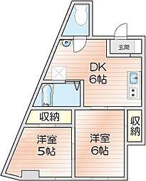 第1広田マンション[401号室]の間取り