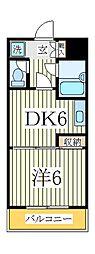 ザ・グリーンマンション[2階]の間取り