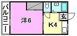 コーポ野咲[205 号室号室]の間取り