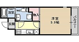 サイト京都西院[4D号室号室]の間取り