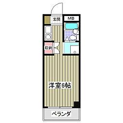 サルーテ熊谷[402号室]の間取り