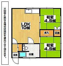 福岡県北九州市小倉北区東篠崎1丁目の賃貸アパートの間取り
