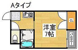セラ北加賀屋B棟[3階]の間取り