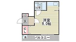 第2荻坂ビル[4階]の間取り