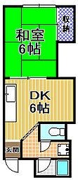 新谷マンション[4階]の間取り