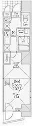 信栄タワー[6階]の間取り