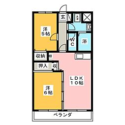 ドルチェ2番館[3階]の間取り