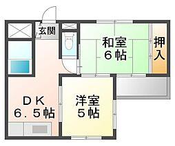 サンパレス21東園田III[3階]の間取り