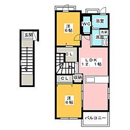 カーサ・ルシード[2階]の間取り