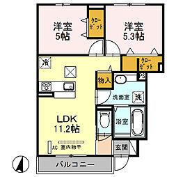 (仮)D‐room桜区南元宿2丁目 I[103号室]の間取り