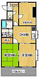 JR青梅線 河辺駅 徒歩11分の賃貸マンション 3階3DKの間取り
