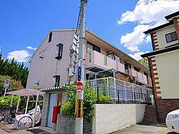 奈良県生駒市桜ケ丘の賃貸アパートの外観