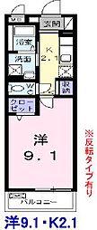 ルクレイル西桜[2階]の間取り