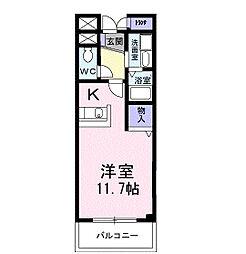 ヴィクトワ−ル[1階]の間取り