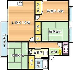 セジュール A棟[2階]の間取り