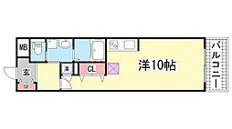 S-FORT 神戸神楽町[607号室]の間取り