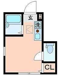 東京都北区岸町1丁目の賃貸アパートの間取り