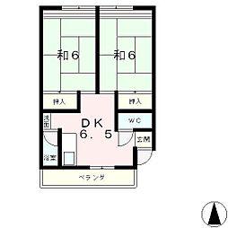 滋賀県大津市富士見台の賃貸マンションの間取り