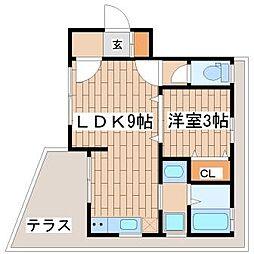 兵庫県神戸市須磨区大手町3の賃貸アパートの間取り