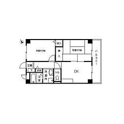 フィネス中屋敷[1階]の間取り