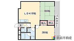 福岡県太宰府市大字通古賀3丁目の賃貸マンションの間取り