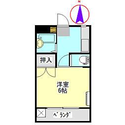 コーポ大桜III[9D号室]の間取り