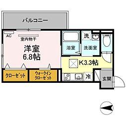 JR吉備線 備前三門駅 徒歩10分の賃貸アパート 1階1Kの間取り