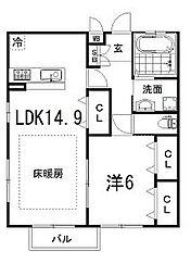 コマ・ヤマザキ[201号室]の間取り