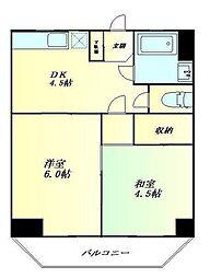 東京都品川区東大井4丁目の賃貸マンションの間取り