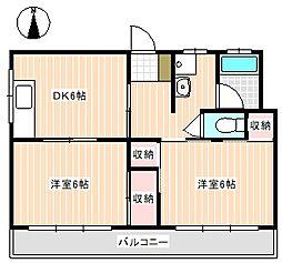 山口県下関市秋根本町2丁目の賃貸マンションの間取り