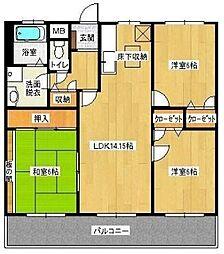 福岡県福岡市早良区原5丁目の賃貸マンションの間取り