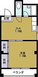大阪府大阪市港区築港4丁目の賃貸マンションの間取り