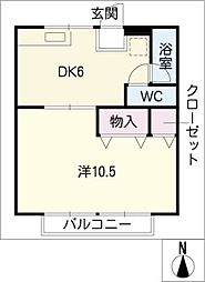 コーポ高井[2階]の間取り