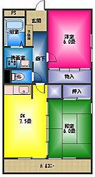 アビタシオンカモガワ[2階]の間取り