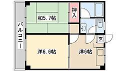 新松戸ニューハイツ[303号室]の間取り