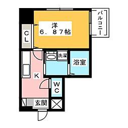 シャンポール内田橋[2階]の間取り