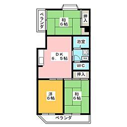 ニューライフ新川[1階]の間取り