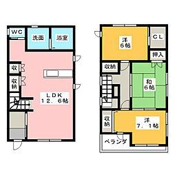 [一戸建] 静岡県浜松市中区曳馬3丁目 の賃貸【/】の間取り