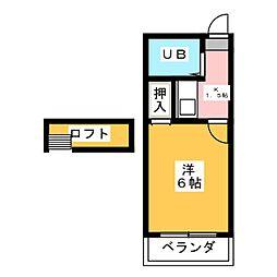 マイルストーン本陣Ⅱ[2階]の間取り
